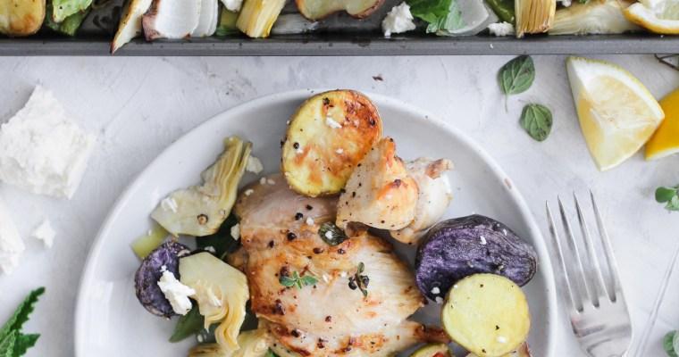 Chicken Mediterranean  Sheet Pan Meal