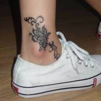 Ankle Butterfly tattoo designs