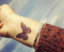 002 Wrist butterfly tattoo designs