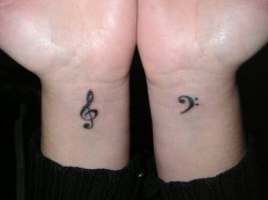 04 Music Wrist Tattoo Deasigns Ideas