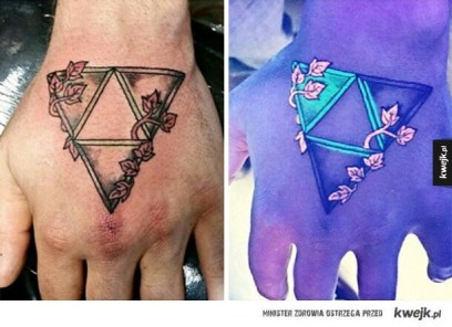 12 UV tattoo visable in special light