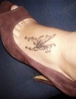 Foot butterfly tattoo designs 5