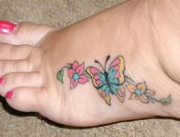 Foot butterfly tattoo designs 6