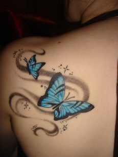 Shoulder butterfly tattoo designs 11