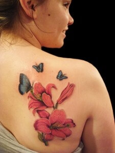 Shoulder butterfly tattoo designs 2