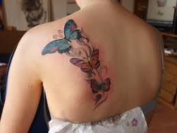 Shoulder butterfly tattoo designs 3