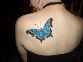 Shoulder butterfly tattoo designs 7