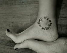 inscription around ankle