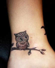 owl on ankle