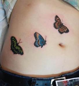 Belly butterfly tattoo designs 3