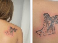 Angel In Water http://slodive.com/inspiration/24-compelling-fallen-angel-tattoo/