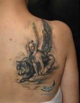 Angel and Wolf http://naszetatuaze.pl/bloodyart/aniol-i-wilk/