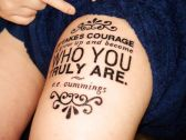 Excellent Font Thigh Tattoo Design for Female http://www.cuded.com/2013/12/55-thigh-tattoo-ideas/