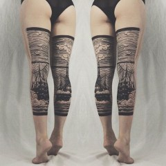 Behind The Thigh Tattoos http://formyhour.com/back-of-leg-tattoos
