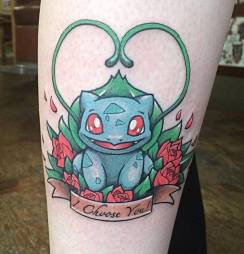 Bulbasaur pokemon tattoo