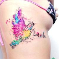 Watercolor tattoos ! 🔥 🎇 ❤️️