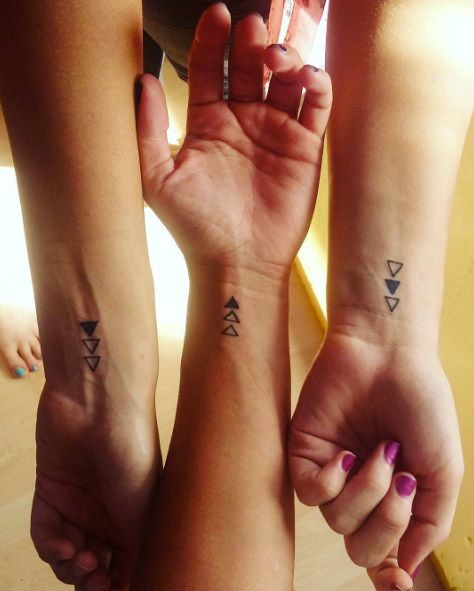 Awesome triangles for siblings - Tattoo Designs for Women