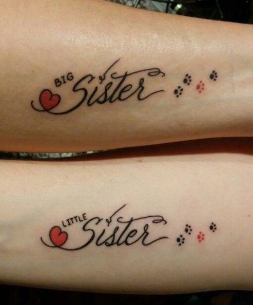 Big and little sister tattoo https://pl.pinterest.com/pin/474918723188047994/