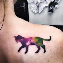 Lovely Watercolor Cat Tattoo Idea. Instagram / kozubskaola. http://stylesweekly.com/tattoo/