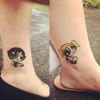 The Powerpuff Girls Tattoos for Sisters https://pl.pinterest.com/pin/451485931377115497/