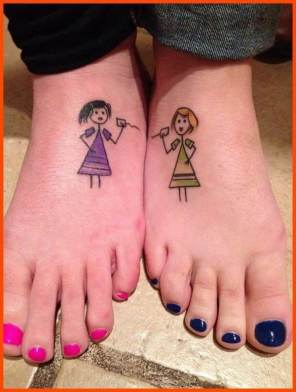 These two sisters are inseparable http://www.piercingmodels.com/sister-tattoos-ideas-pictures/