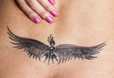 Unique phoenix tattoo https://www.inkdoneright.com/lower-back-tattoos/