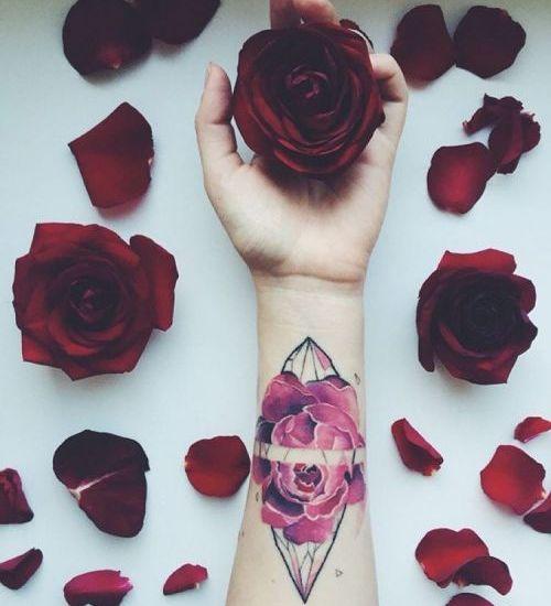 Amazing rose tattoo