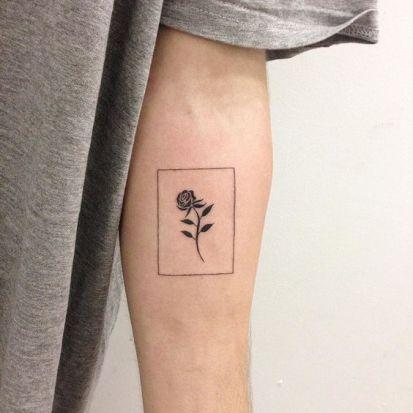 Black rose like a card