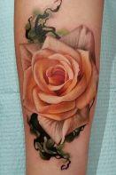 Peach rose tattoo