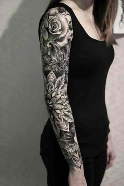 The full sleeve arm tattoos for girls