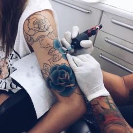 Unique Blue Rose Tattoo