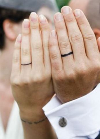 Simple wedding ring tattoo ideas