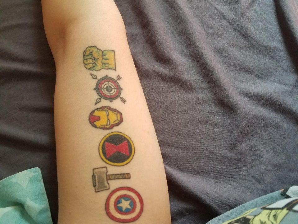 Avengers guys symbol tattoo