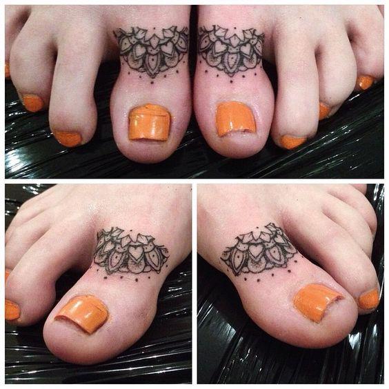 Unique toe tattoo for women