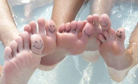 Best friends toe tattoo
