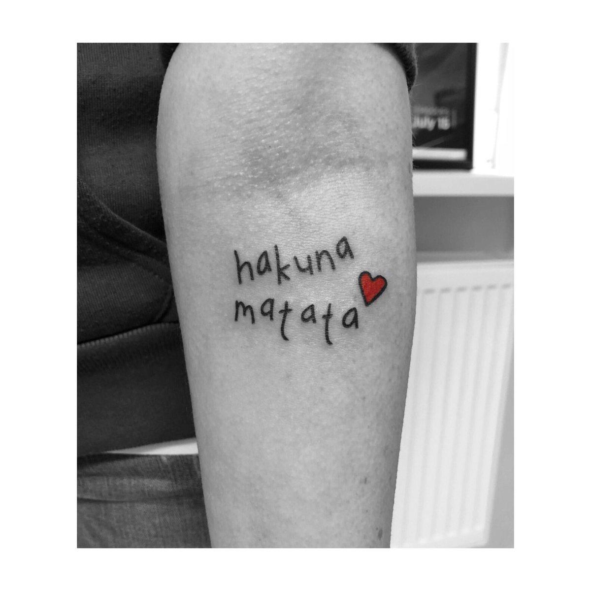 Hakuna matata tattoo with heart