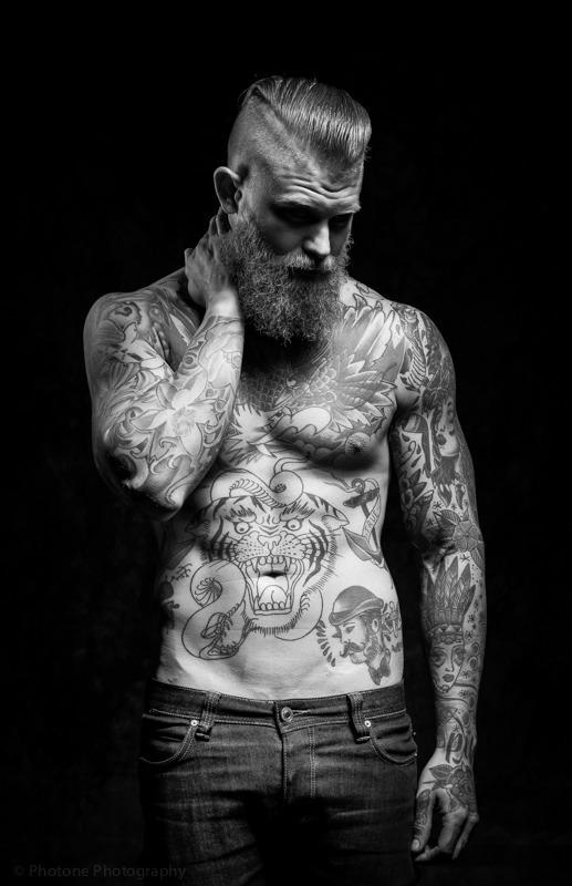 Full body tattoo for man