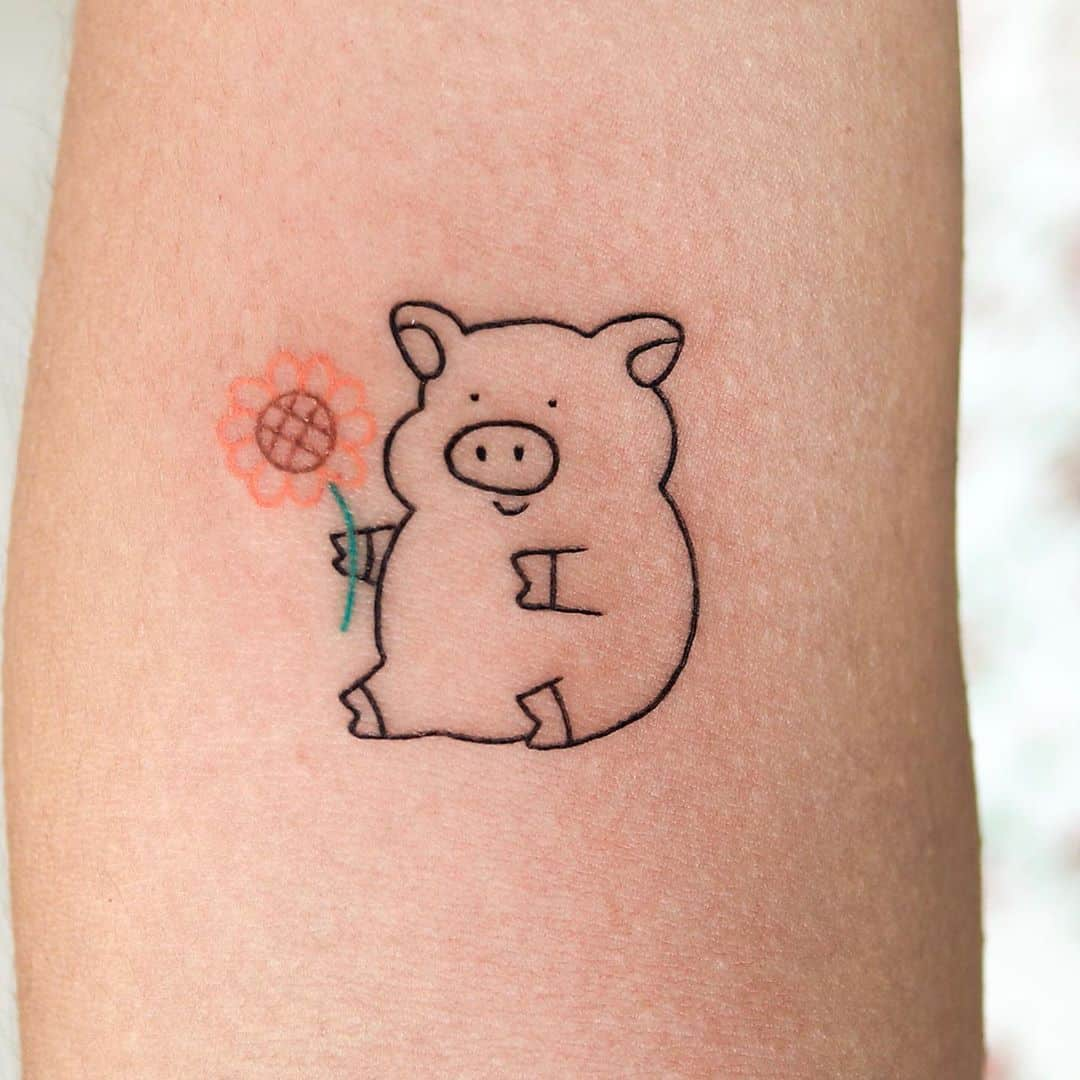 Little pig tattoo ideas