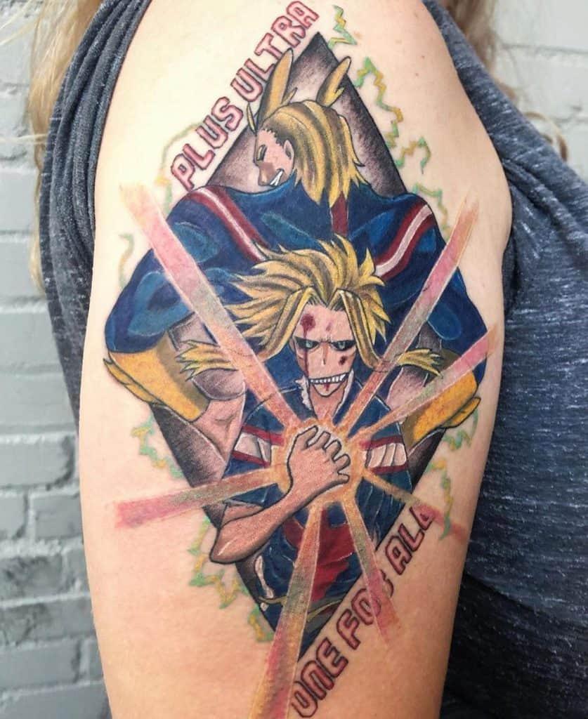 All Might my hero academia tattoos cheltattoos