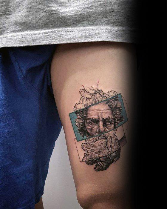 Geek god thigh tattoo ideas