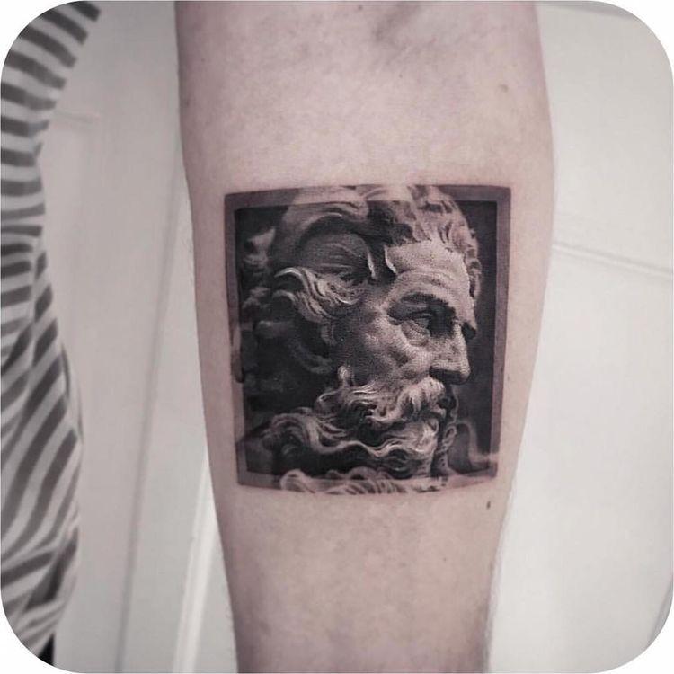 Zeus in frame tattoo ideas