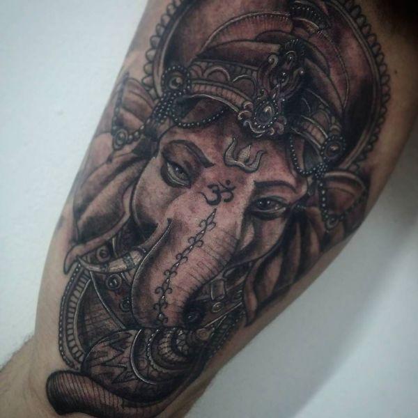 Ganesha tattoo on forearm