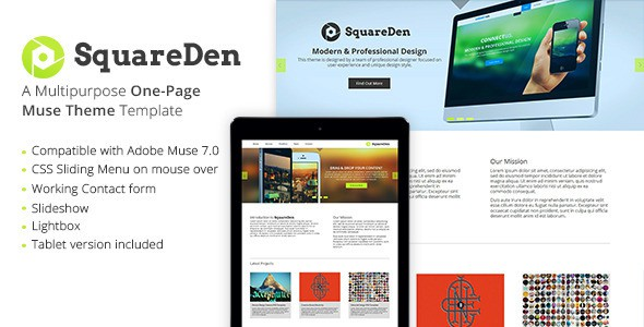 SquareDen-One-Page-Muse-Theme
