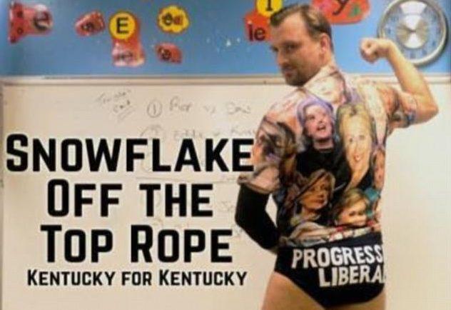 The progressive liberal:  Professional wrestler