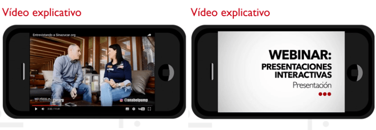 Imágenes de diapositivas con vídeo incrustado