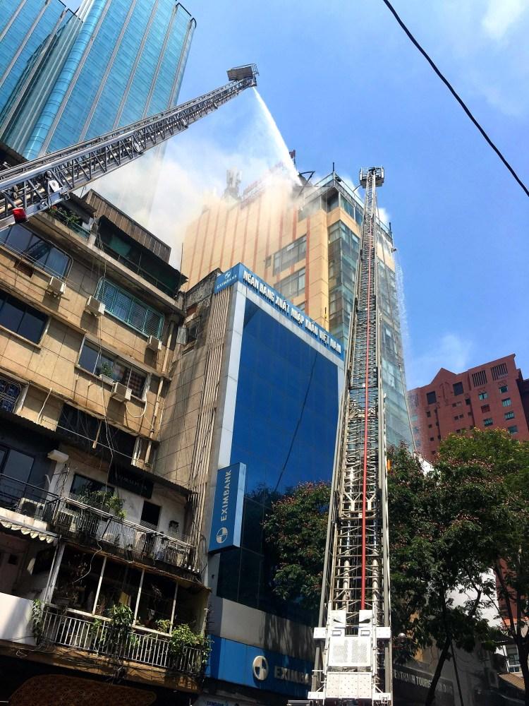 Một vụ cháy xảy ra tại Thành phố Hồ Chí Minh. (Nguồn ảnh: TTXVN)