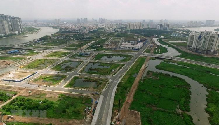 Hạ tầng nội khu của Khu đô thị mới Thủ Thiêm ở quận 2, Thành phố Hồ Chí Minh. (Nguồn ảnh: TTXVN)