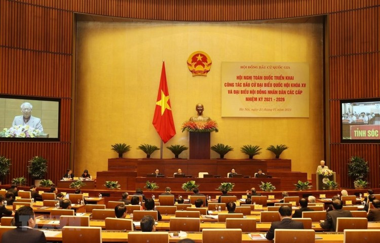 A national conference held on January 21 to publicise related Party and State documents. (Photo: VNA)