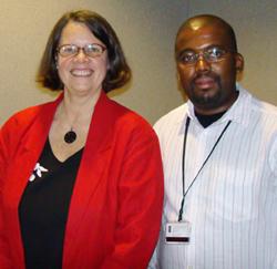 ED Seana Anderson with Intern Nkwenkwezi Languza