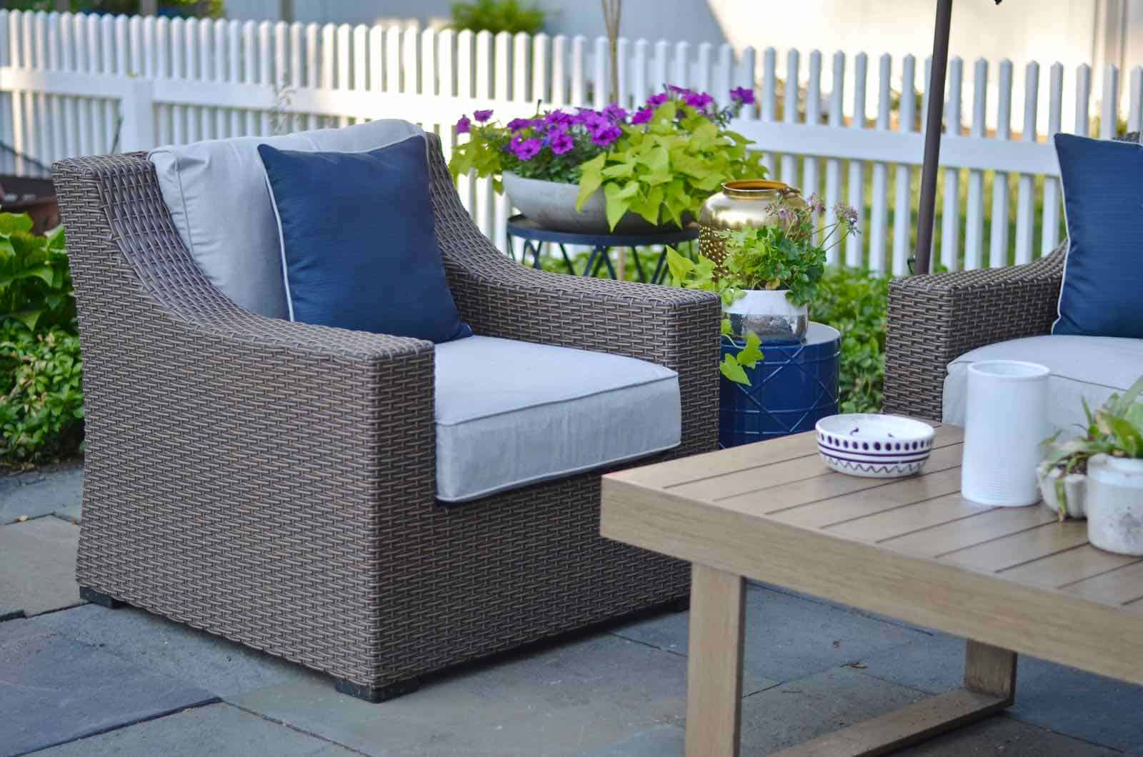 phase 1 of our patio reveal family friendly and cohesive furniture for the